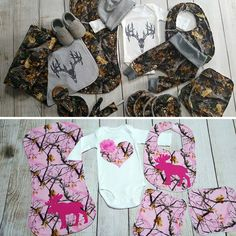 Boys and Girls Camo Baby Gift Sets