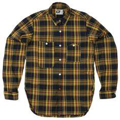 Engineered Garments Work Shirt  Navy & Yellow Madras