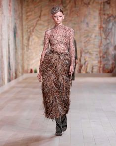 Sense Of Sight, Dior Haute Couture, Fall Winter, Autumn, Christian Dior, Lace Skirt, Feather, Embroidery, Instagram Posts