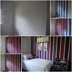 Que tal dar uma RENOVADA em alguma parede de seu quarto? Ótima dica, e super fácil de fazer.