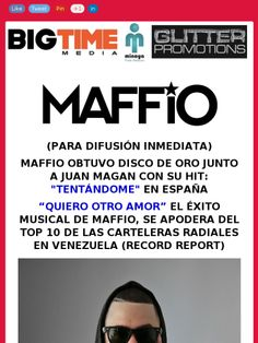 #MEDIOS @maffio obtuvo #DISCODEORO junto a @juanmagan en #Espana #Tentandome https://madmimi.com/s/5ab7d5?o=tm @fusion4mediapr @vladygomez