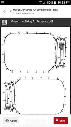 Image result for mason jar string art template | String Art