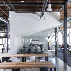 Pinning the very-pinnable #Pinterest offices to our Pinterest boards.  Lots of #Steelcase Think and Node chairs. Lots of white.