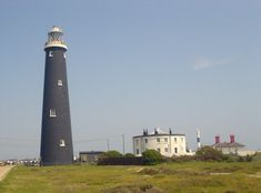 Old Dungeness Light (with the new light in the right background) England
