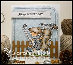 LOTV - Playing Golf with Shabby Shack Paper Pad and sentiment from Simply Sophisticated Set by Vicky Bailey