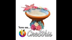 DIY Make a Birdbath from a Clay Pot & tray on Cre8this