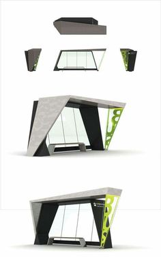 Environmental Design - Bus Stop Urban Furniture, Street Furniture, Furniture Nyc, Cheap Furniture, Discount Furniture, Urban Architecture, Concept Architecture, Muebles Estilo Art Nouveau, Architectes Zaha Hadid