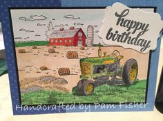 Stampin' Up!  Tin of Cards stamps, Harvest Blessings and Farm Life.