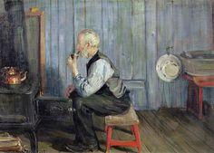 Gustav Wentzel Inspirational Man In Blue Kitchen Edvard Munch, Lund, John Bratby, Ludwig, Keith Haring, Figure Drawing, Norway, Sweden, Cool Stuff