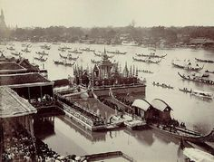 This legendary procession seems to have originated in the capital of Sukhothai kingdom, probably as in the 13th century. But during the war which brought about the fall of Ayutthaya in 1767, the royal barges were lost along with other treasures and the records of the Kingdom.       When King Rama I ascended the throne in 1782, to become the first king of the present Chakri Dynasty, he considered the renewal of national arts and craft and maintenance of tradition