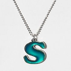 "Initial ""mood"" necklace. I actually have this one! $6.00"
