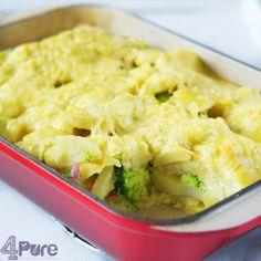 Kip, broccoli ovenschotel. Makkelijk te maken, slechts 5 ingrediënten! En superlekker.
