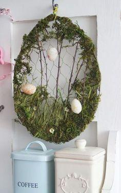 Den Frühling ins Haus bringen mit diesen prächtigen Osterkränzen... 8 Ideen - DIY Bastelideen