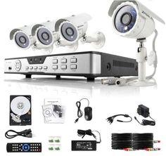 ZMODO 4 CH DVR With 600TVL Bullet Cameras