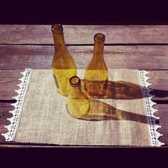 Burlap and Lace Placemats Country Wedding Burlap and Lace Tableware Placemat Country Rustic Decor Burlap and Lace Wedding Decorations Burlap Projects, Burlap Crafts, Fabric Crafts, Diy Projects, Project Ideas, Sewing Projects, Lace Wedding Decorations, Wedding Burlap, Wedding Bells