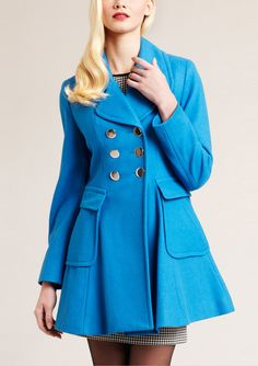'Melton' Double-Breasted Coat from Laundry by Shelli Segal