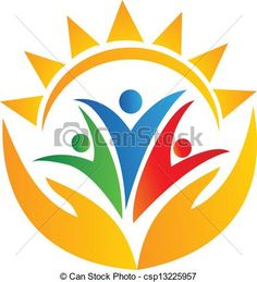 Teamwork hands and sun logo. Teamwork people hands and sun logo vector. S Logo Design, Badge Design, Letra Drop Cap, Preschool Logo, Teamwork Logo, Family Logo, Sun Logo, Picture Icon, Marca Personal