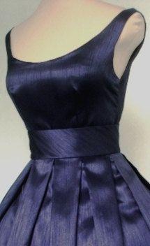 los años 50 estilo vestido de Cóctel de shantung por elegance50s