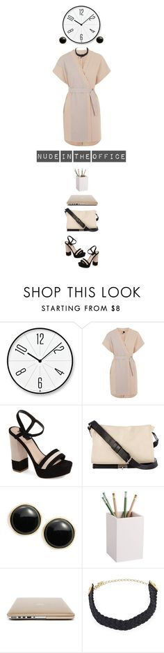 """Nude in the office"" by collagette ❤ liked on Polyvore featuring Lemnos, Topshop, Dries Van Noten, Karen Kane, CB2 and Ettika"