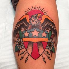 Traditional tattoo by Marc Nava
