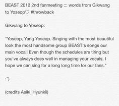 BEAST 2012 fanmeeting :: Gikwang to Yoseop