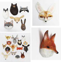 Bloesem kids | Paper mache masks by Abigail brown