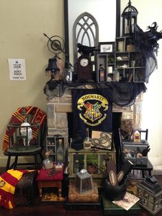 Halloween here we come!! Our music and art studio is all dressed up with this amazing Harry Potter mantel!!