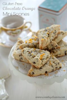 Gluten Free Chocolate Orange Mini Scones - www.countrycleaver.com