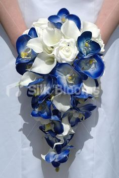 blue and white flowers for wedding - Google Search