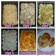 Smothered pork chops #MrsKimchi #BillieCooks #homemade