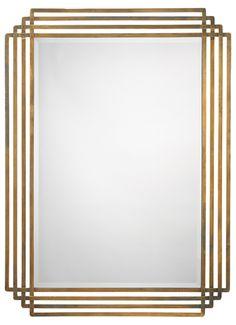 Jaime Young Serai mirror, 44x32x1,  #brass, #geomertric, #mirror