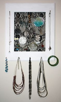 Lace earring holder (tutorial).
