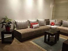 Sofa, Couch, Moroccan, Salons, Living Room, Architecture, Decoration, Inspiration, Furniture