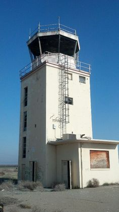 Abandoned air traffic control tower. Crows Landing Naval Air Station. Sad.