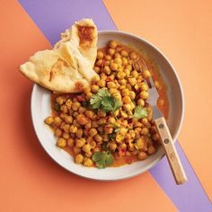 This simple chana masala assembles quickly and results in a flavourful, inexpensive meal that provides a complete protein.