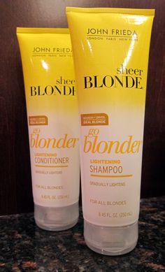 John Frieda Sheer Blonde Go Blonder Lightening Shampoo and Conditioner | Beauty Test Dummies
