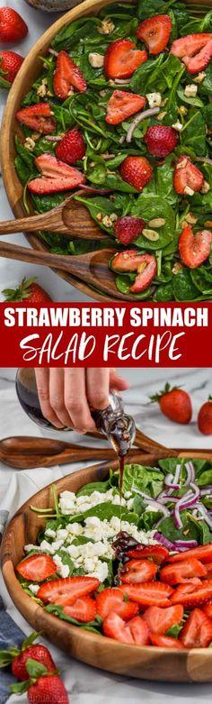 Winter Salad Recipes, Italian Salad Recipes, Shrimp Salad Recipes, Spinach Salad Recipes, Best Salad Recipes, Easy Recipes, Spinach Strawberry Salad, Strawberry Wine, Plat Simple