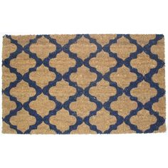 Make your home more inviting with printed contemporary doormat. Crafted of coir, a fiber made from the husk of a coconut, this textural piece will keep the outdoors out and the indoors a little cleaner.