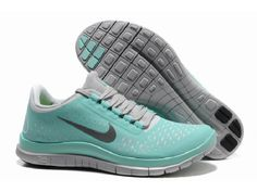 Love this Color! Nike Women's Free 3.0 V4 Running Shoes Sneakers #Mint #Green #Fitness #Fashion #Nike #Running #Shoes