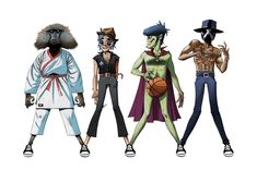 Gorillaz, James Murphy & André 3000 – DoYaThing: After taking an early glimpse at the Gorillaz for Converse Chuck Taylor All Star Collection, the Damon Albarn, Jamie Hewlett, Abbey Road, James Dean, Blur, Art Gorillaz, James Murphy, Hip Hop, Bands