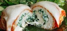Chicken Rollatini with Spinach alla Parmigiana