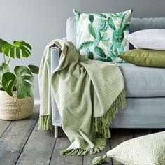 Prydnadskudde Kaktus, 50x50 cm, Grön - Heminredning - Hemtextil - Hemtex