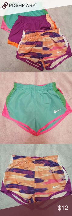 Set of girls Nike dri fit shorts Three pairs of Nike dri fit girls shorts. All are in excellent condition. Nike Bottoms Shorts