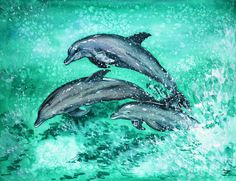 abstract dolphin watercolor - Google Search