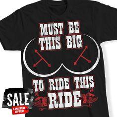 Big To Ride This Ride Biker T-Shirt
