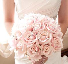 Brudbukett - ljusrosa rosor