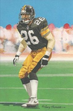 Rod Woodson Pittsburgh Steelers unsigned Goal Line Art Card