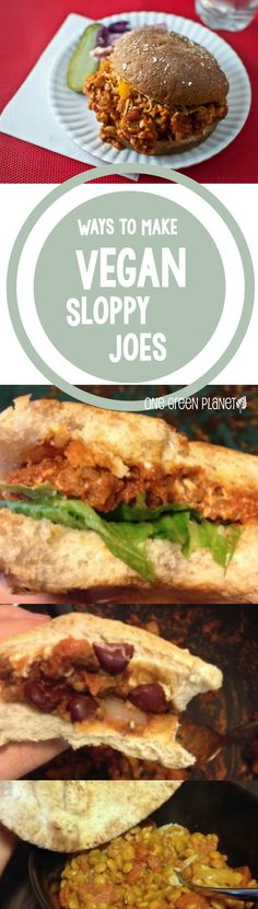3 Totally Awesome Ways to Make Vegan Sloppy Joes #vegan #vegetarian #sloppyjoe #recipes