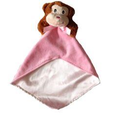pink monkey security blanket