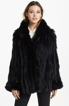 George Simonton Couture Reversible Silk & Genuine Fox Fur Jacket available at #Nordstrom